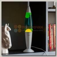 Лава Лампа Желтая/Синяя (35 см) белый корпус