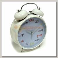 Часы будильник 'Гигант' (белый с формулами)