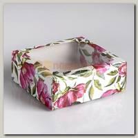 Коробка сборная 'Акварельные цветы' 14,5 * 14,5 * 6 см