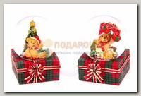 Шар со снегом 'Мишка' новогодний 5*5*6 см