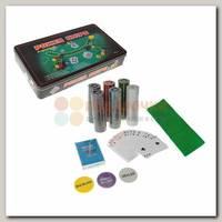 Набор для покера (300 фишек в жестяной коробке)