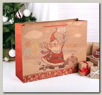 Пакет 'Санта с подарком' XL 49 *13 * 38 см