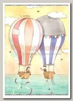 Открытка 'Воздушные шары' Marie Leman 0090