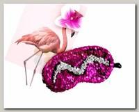 Маска для сна с пайетками Розовая