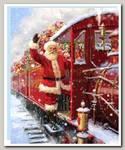 Пакет 'Дед мороз Вагон подарков' L