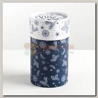 Коробка подарочная Тубус 'Happy new year!' 8 * 8 * 14.5 см