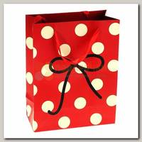 Пакет Красный в белый горох Бантик ML