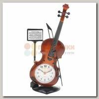 Часы будильник 'Скрипка' настольные