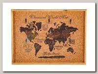 Ключница 'Карта мира' 40*3*30см