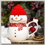 Кружка 'Снеговик в шапочке'