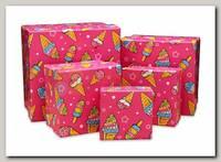 Коробка подарочная Квадрат 'Мороженое' 7 * 7 * 4 см