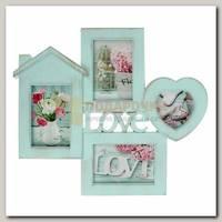 Фоторамка 'Любовь в доме' на 4 фото  39,5*44*2,5 см