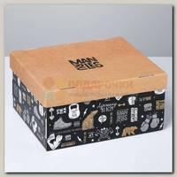 Коробка сборная 'Брутальность' 31,2 * 25,6 * 16,1 см