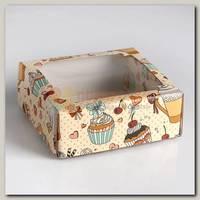 Коробка сборная 'Сладкое чаепитие' 14,5 * 14,5 * 6 см