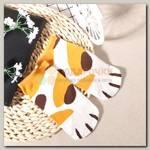 Носки 'Лапки' белые с рыжими пятнышками