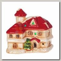 Фигурка декоративная 'Домик' с подсветкой красный 10,5*8*10 см