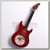 Часы настенные 'Гитара' 11*38 см коричневые