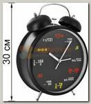 Часы Будильник 'Гигант' (черный Формулы)