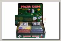 Набор для покера 500 фишек (в жестяной коробке)