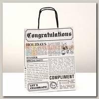 Пакет 'Газета' белая ML
