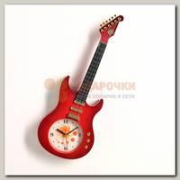 Часы настенные 'Гитара' 11*38 см красные