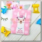 Обложка на паспорт 'Beautiful Lama' розовая