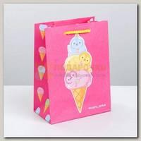 Пакет 'Мороженое Худеть нельзя' MS 14,5 * 19,5 * 8,5 см
