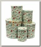 Коробка подарочная Цилиндр Сладкий Новый год 23 * 23 * 25 см