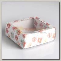 Коробка сборная 'Подарки бантики' 14,5 * 14,5 * 6 см