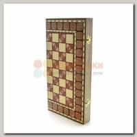 Игра настольная 3 в 1 (нарды, шахматы, шашки) оранжевые 39см