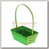 Корзина плетёная 'Бамбук' зеленая