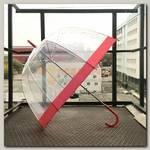 Зонт 'Купол' Красный (прозрачный)