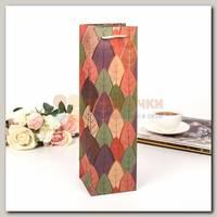 Пакет под бутылку 'Листья'