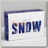 Коробка сборная 'Let it snow' 16 * 23 * 7.5 см