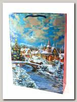 Пакет 'Новогодний закат' L