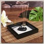 Сады дзен 'Черный квадрат' с аромапалочками 16,5*16,5 см