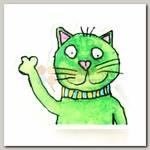 Значок 'Котик Зеленый'