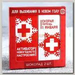 Подарочный набор 'Скорая помощь для выживания в Новом году' шоколад 2 шт