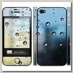 Наклейка на iphone 4/4S 'Капли'