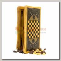 Игра настольная 3 в 1 Большая (нарды, шахматы, шашки)
