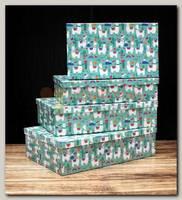 Коробка подарочная Прямоугольник 'Ламы' 26 * 16 * 6 см