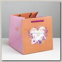 Пакет 'Сердце Love' S 16 * 16 * 16 см